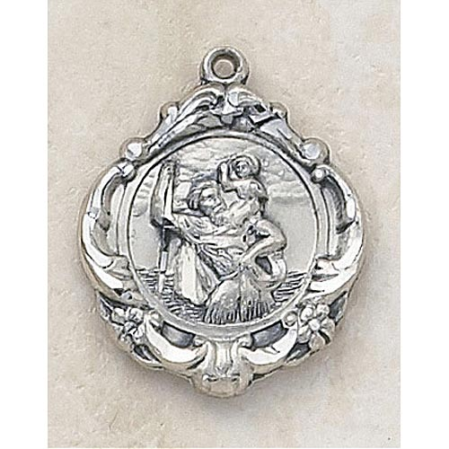 Saint Christopher Medal - In Sterling Silver