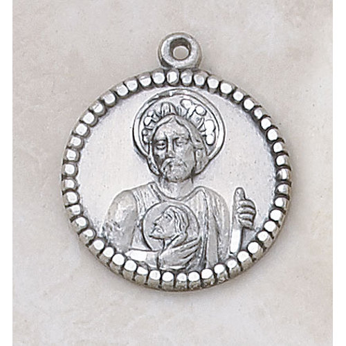 Creed Saint Jude Medal in Sterling Silver