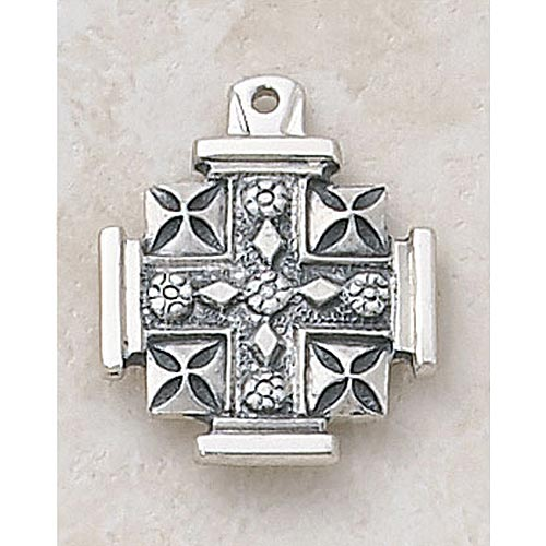 Jerusalem Cross PendantIn Sterling Silver
