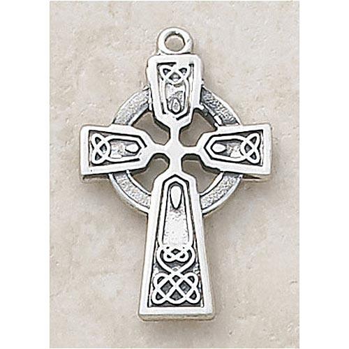 Sterling silver celtic cross pendant catholic gifts more celtic cross pendant in sterling silver aloadofball Image collections