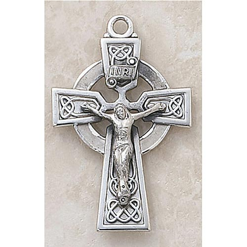 Celtic Crucifix Pendant in Sterling Silver
