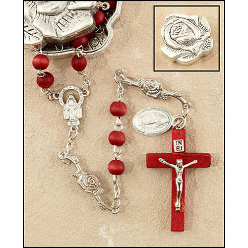 Rose Petal Rosary - with Rose Shaped Box