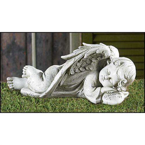 Sleeping Angel Garden Figurine