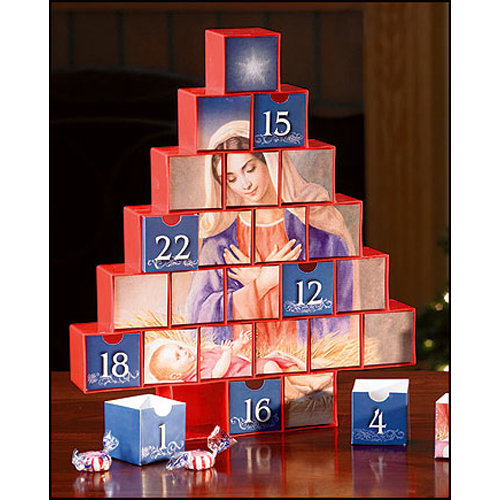 Mary and Baby Jesus Advent Calendar