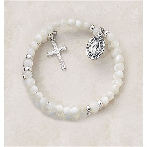 Wrap Style Rosary Bracelet - for First Communion