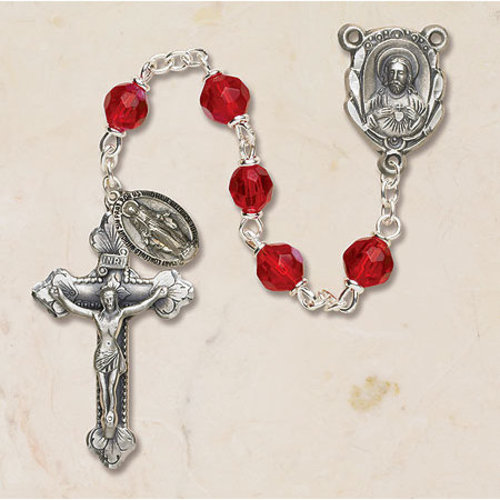Ruby Rosary Fire Polished