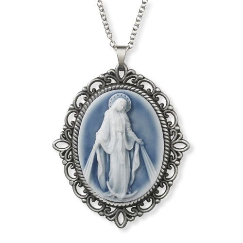 Our Lady of Grace - Cameo Pendant Necklace