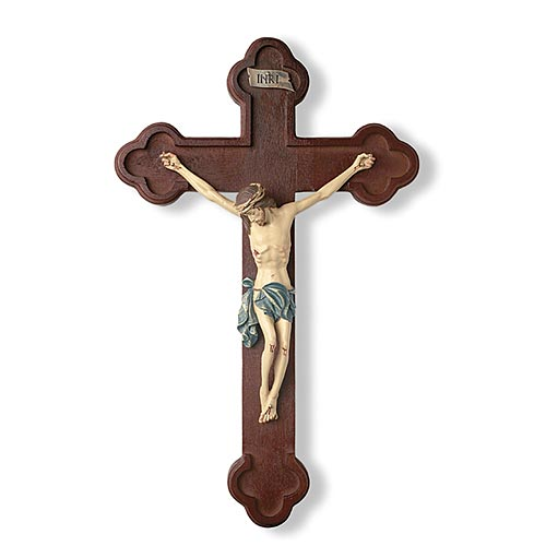 "Tomaso Budded Wall Crucifix - 10"" Size"
