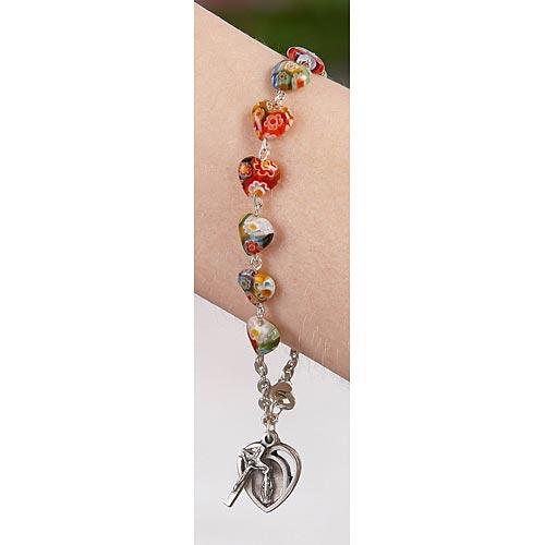Heart Rosary Bracelet