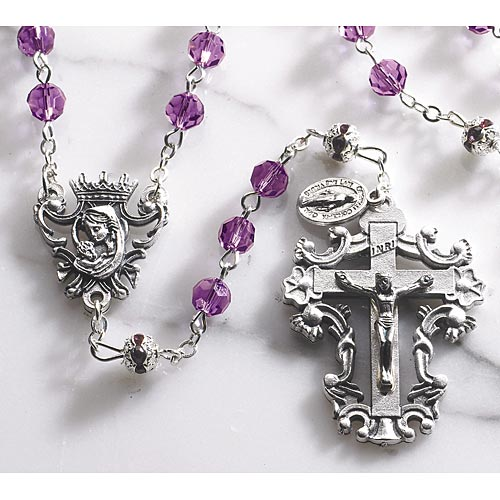 Diamond Cut Amethyst - Crystal Rosary