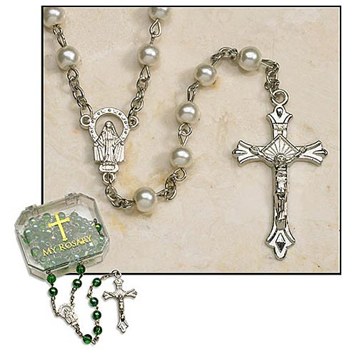 Imitation Pearl Rosary
