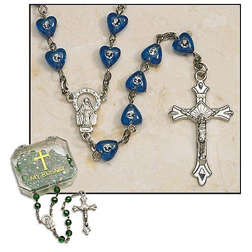 Sapphire Heart Rosary