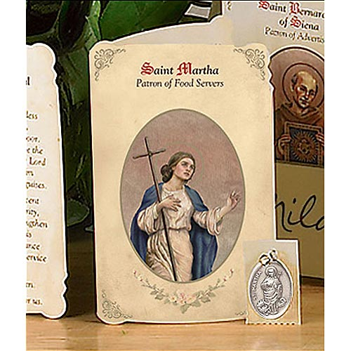 Saint Martha Holy Card and Medal