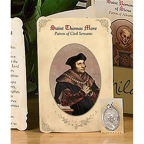 Saint Thomas More Holy Card and Medal