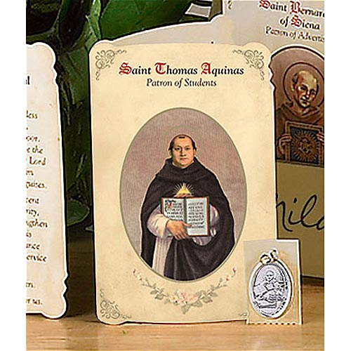 Saint Thomas Holy Card and Medal