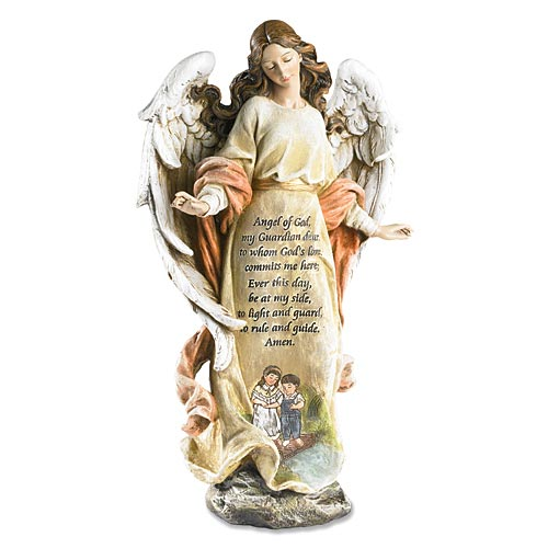 Guardian Angel Figurine - Angel of God Prayer