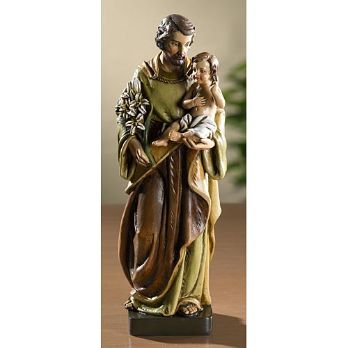 Saint Joseph with Jesus - Catholic Statue