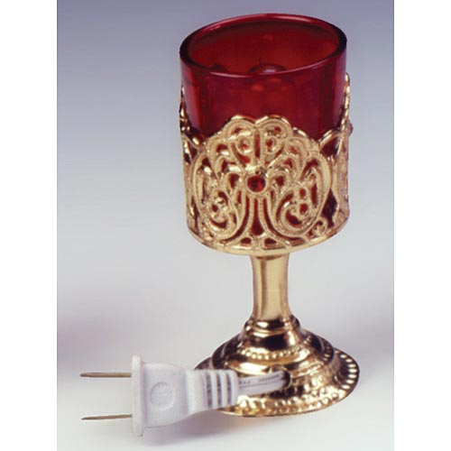 Electric Votive Stand with Jewel Design - Catholic Gifts ...