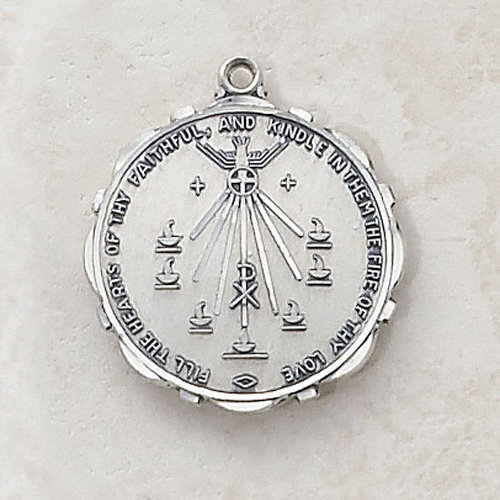 Seven Gifts of the Holy Spirit - Catholic Sterling Silver Medal