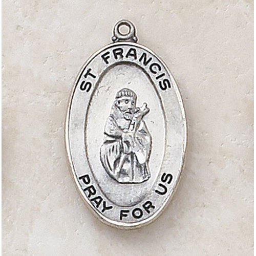 Saint Francis Medal in Sterling Silver