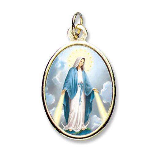 Our Lady of Grace Epoxy Medals - Package of 24