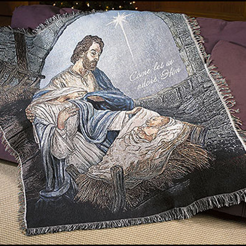 Nativity Tapestry Sofa Throw