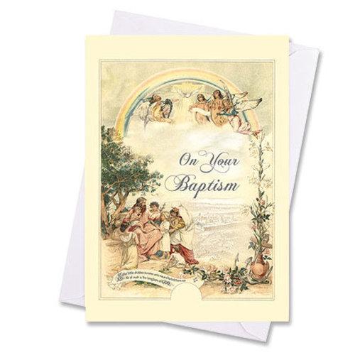 Vintage baptism card catholic gifts vintage baptism card m4hsunfo