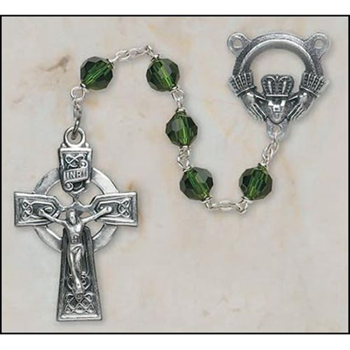 Celtic Rosary with Claddagh Center