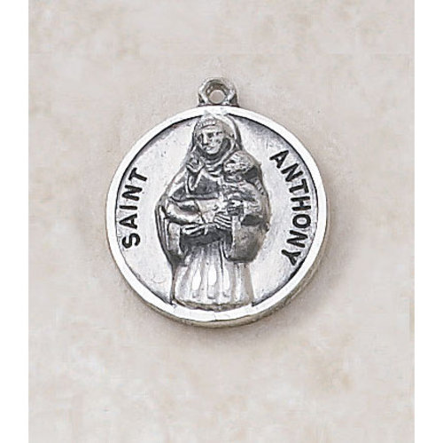 Saint Anthony Medal - in Sterling Silver