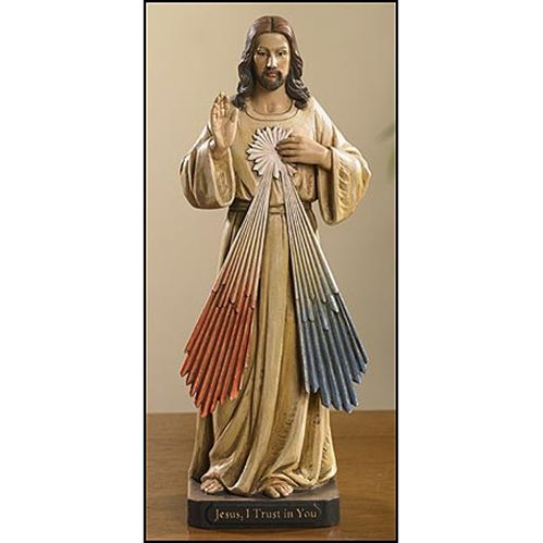 Jesus I Trust in YouDivine Mercy Catholic Statue