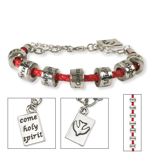 Gifts of the Spirit Confirmation Bracelet