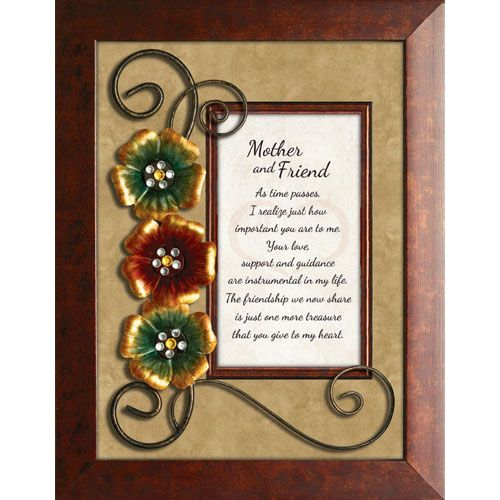 Mother and FriendFramed Tabletop Plaque