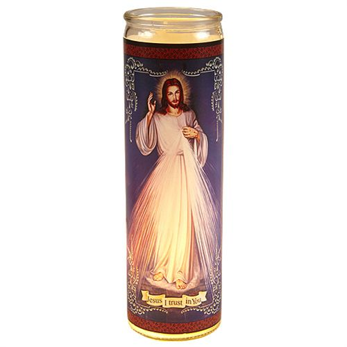 Divine Mercy - Flameless Candle