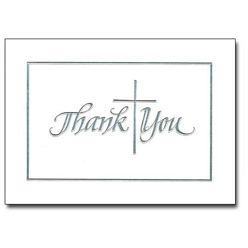 Silver Cross Thank You Note Cards