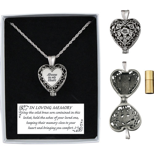 Memorial Heart Locket with Urn