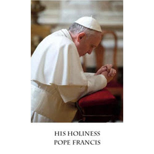 Pope Francis Prayer Card 100/pkg
