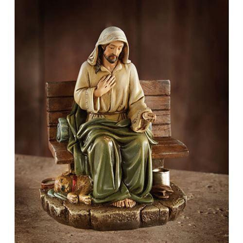 Homeless Jesus Figurine No Place To Rest Catholic