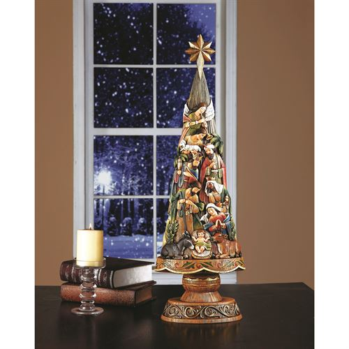 "Nativity Christmas Tree - 30"" Size"