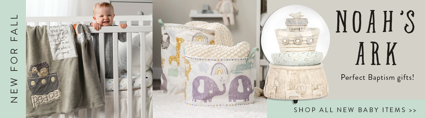 New for Fall. Noah's Arc Collection Perfect Baptism Gifts