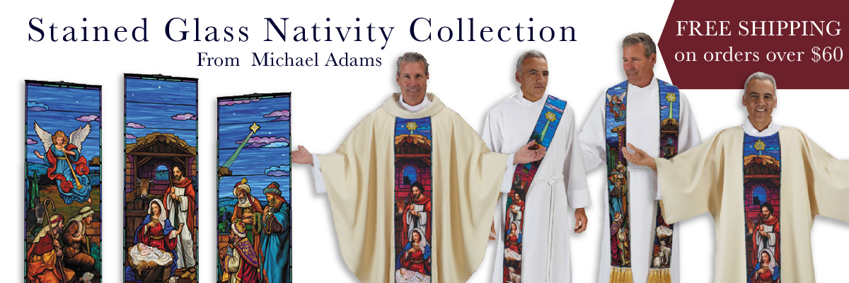 Shop our New Stained Glass Nativity Collection from Michael Adams