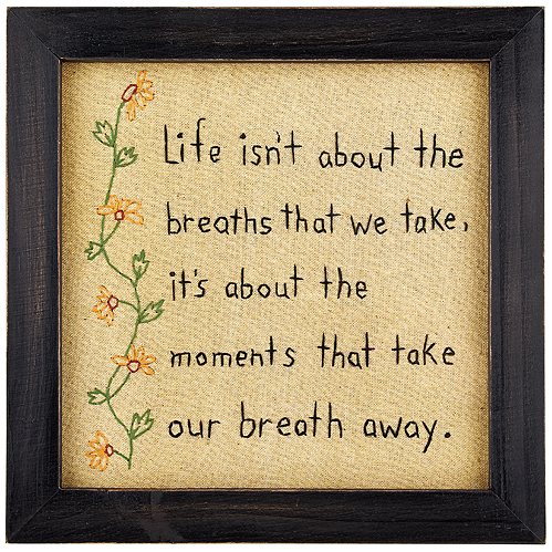 Life Framed Stitched Plaque