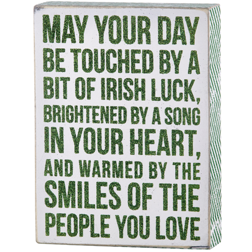 Irish Block Plaque