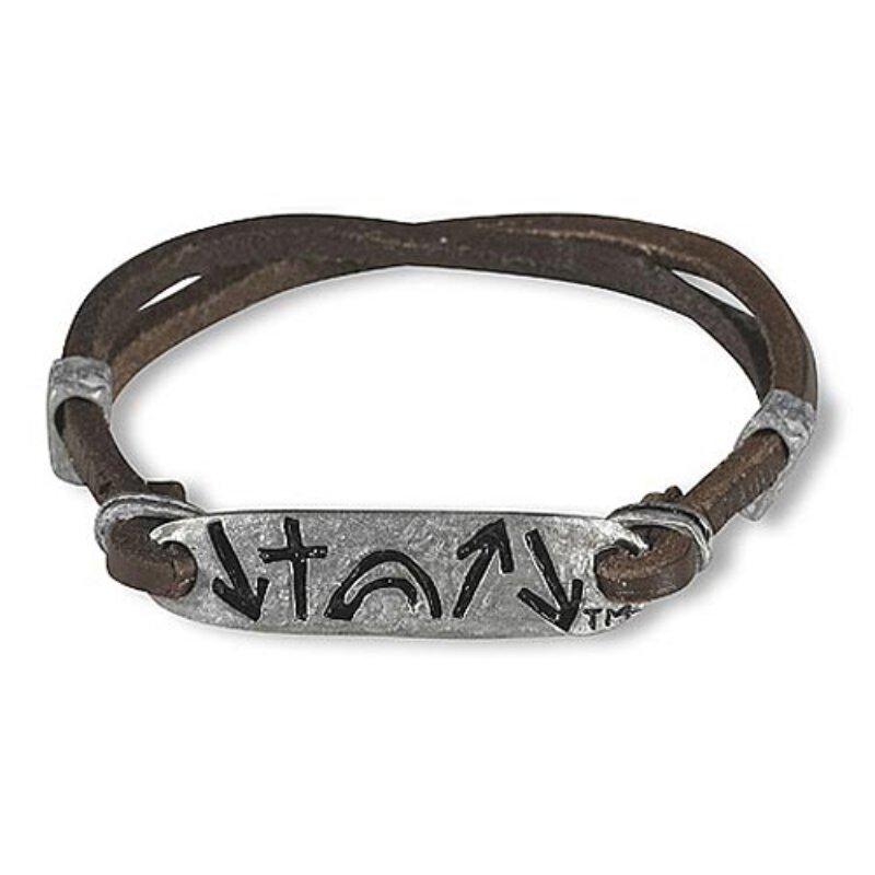 Leather & Metal Slider Bracelet - Witness Collection