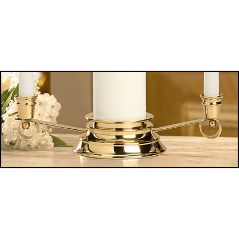 Unity Candle Holder - Gold Curved Silhouette