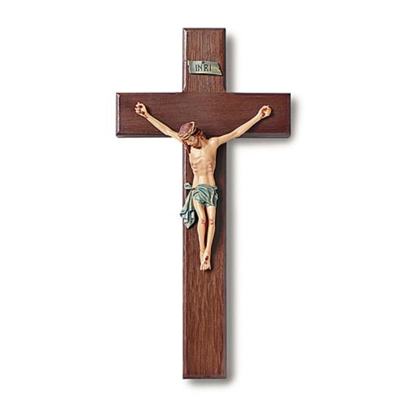 Hand Painted in Color - Wall Crucifix