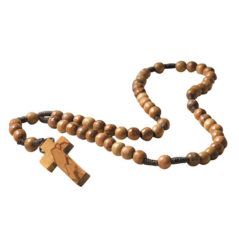Olivewood Cord Rosary for Catholics