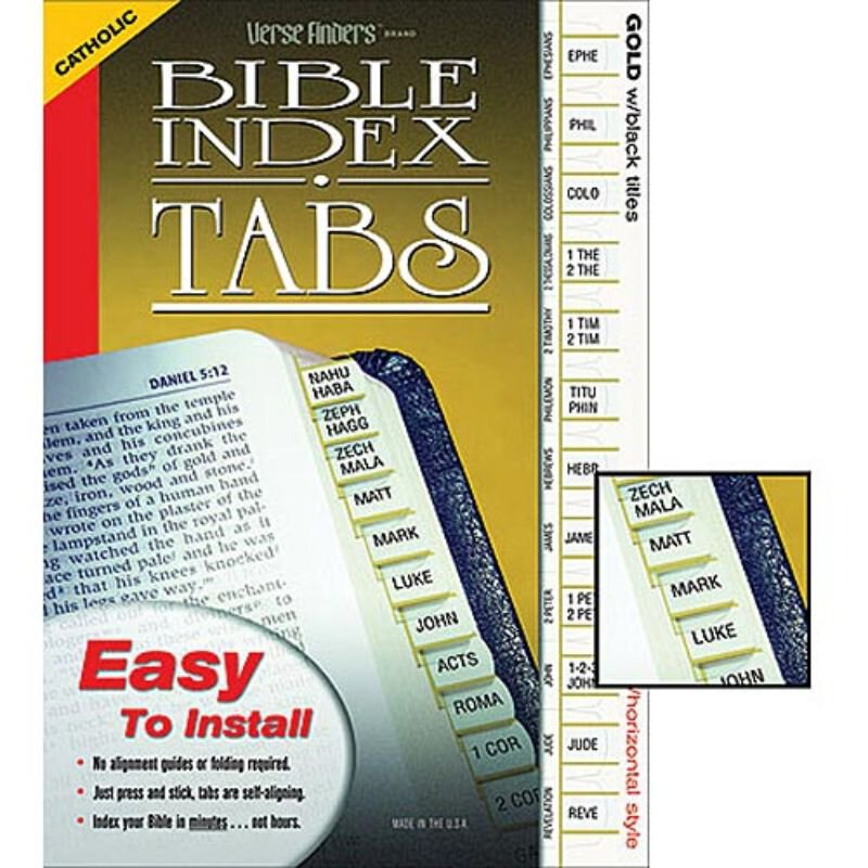 Bible Index Tabs - Catholic Version