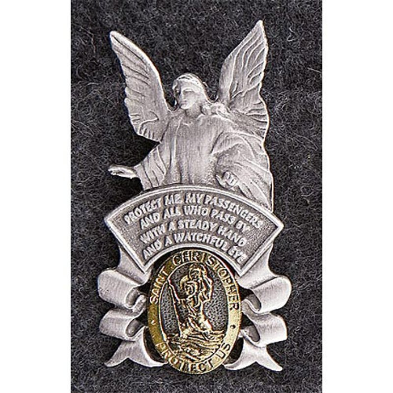 Guardian Angel/Saint Christopher - Auto Visor Clip
