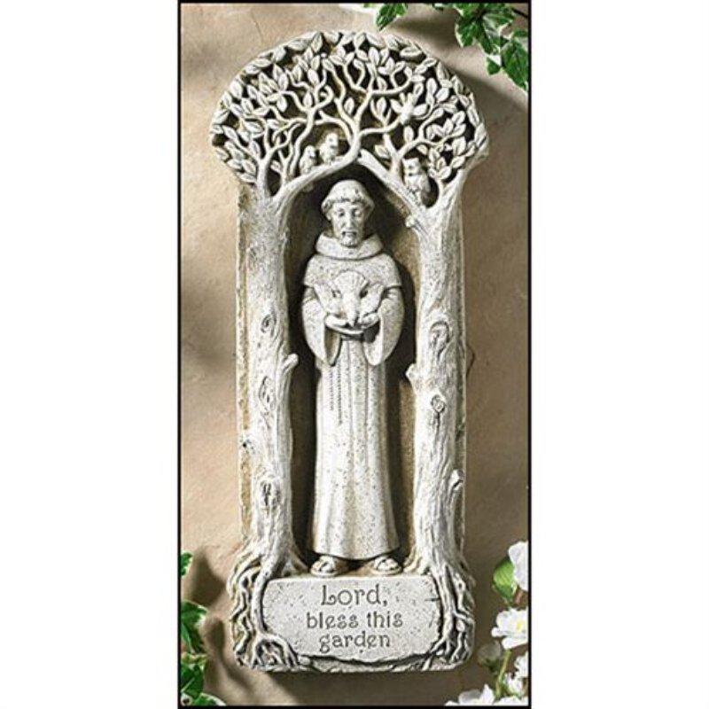 Saint Francis - Hang or Stand Garden Plaque