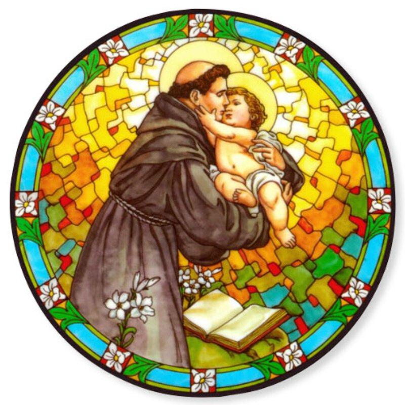 Saint Anthony Static Sticker